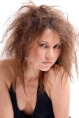 6730644-girl-with-a-reckless-hair-cutting-on-a-white-background