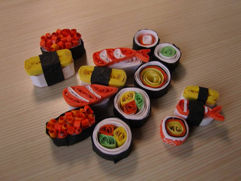 Quilled Sushi 1