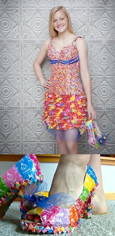 рокля от бонбони