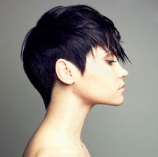 къса черна коса